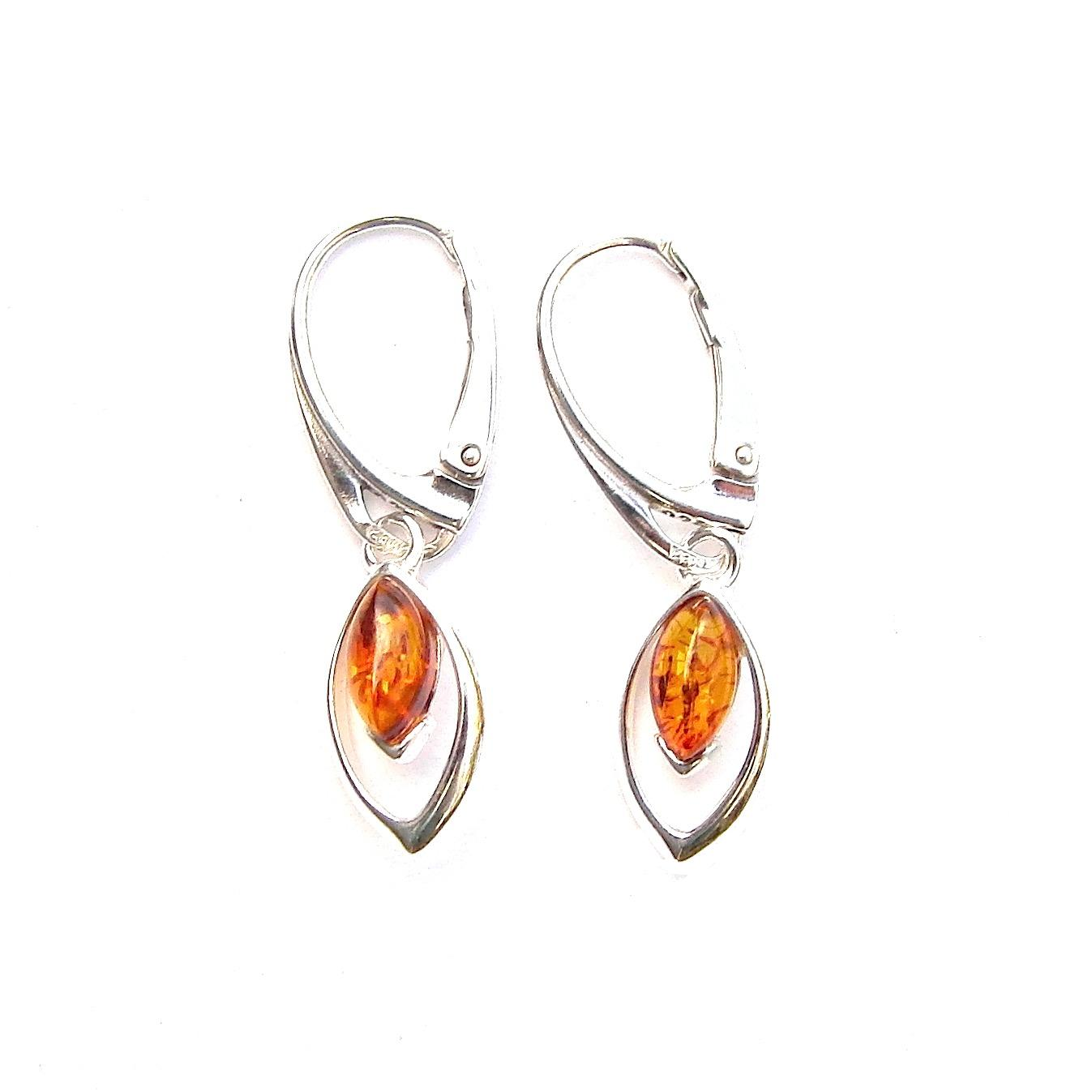 Amber Dainty Marquise Earrings