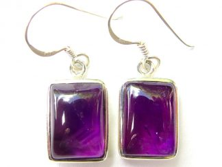 Amethyst Large Rectangle Earrings