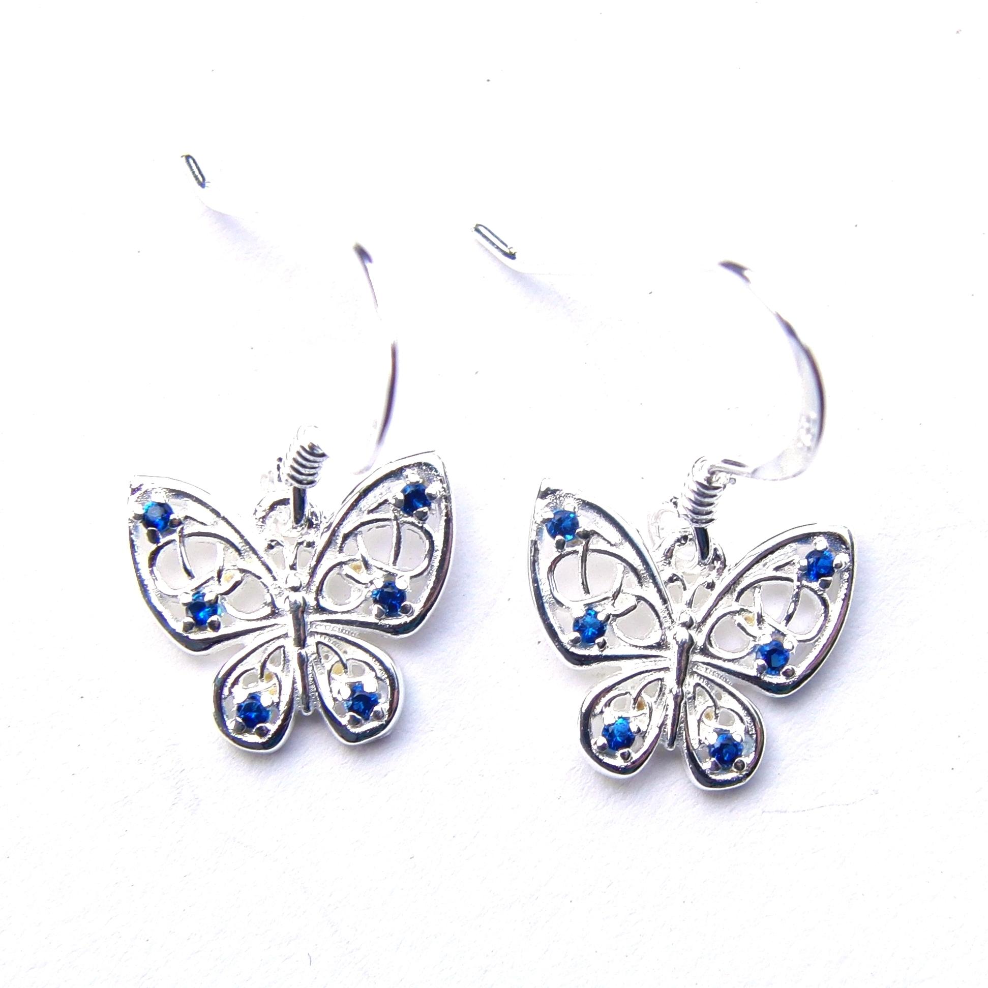 Beautiful Blue Butterfly Earrings.