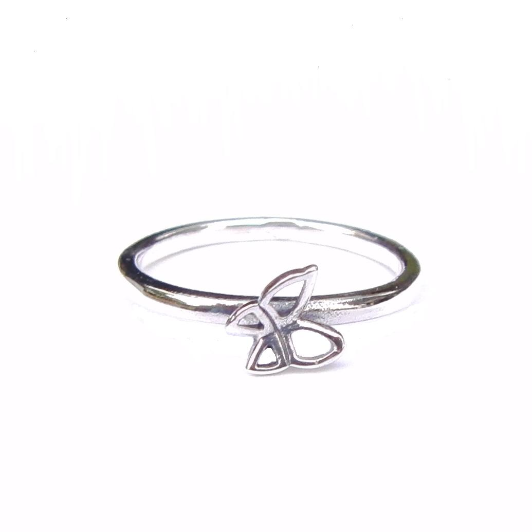 Beautiful Silver Butterfly Stacking Ring