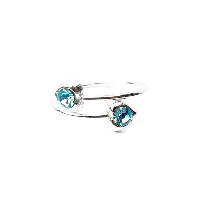 Beautiful Turquoise Crystal Hear Toe Ring