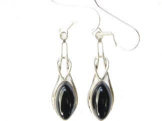 Onyx Marquise Knot Earrings