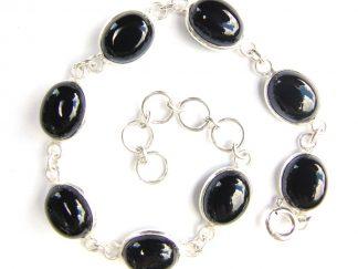 Black Onyx Oval Bracelet