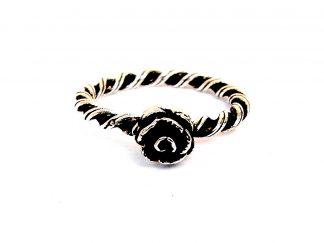 Beautiful Silver Rose Stacking Ring