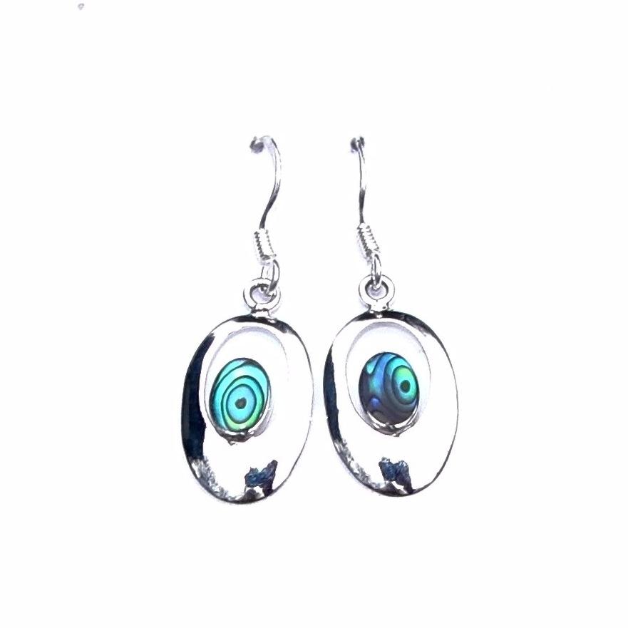 Beautiful Abalone Oval Outline Earrings