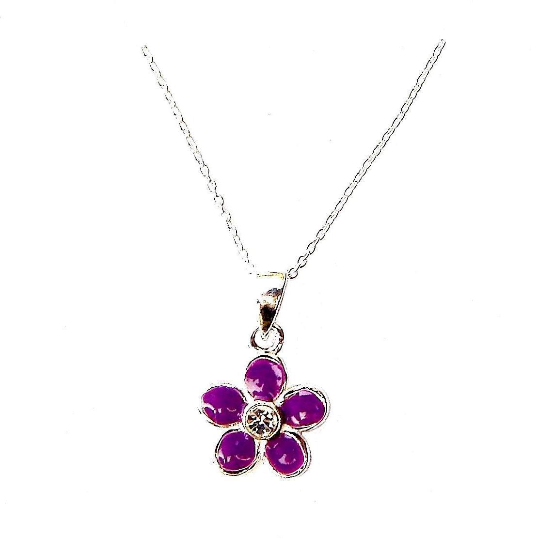 Child's Purple Flower Necklace