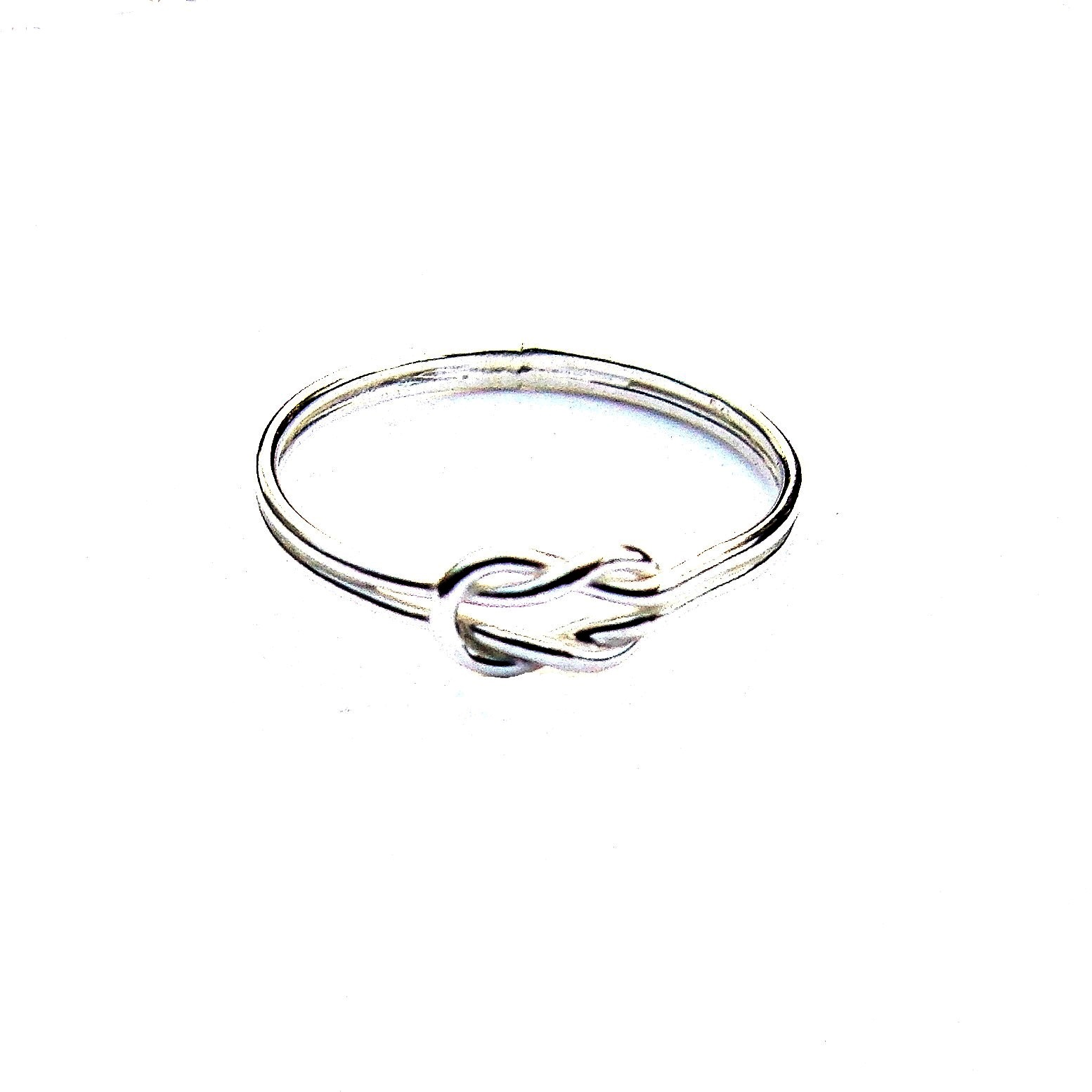 Beautiful Dainty Silver Knot Ring