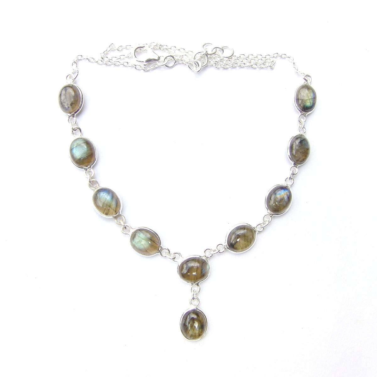 Labradorite Large Oval Necklace.