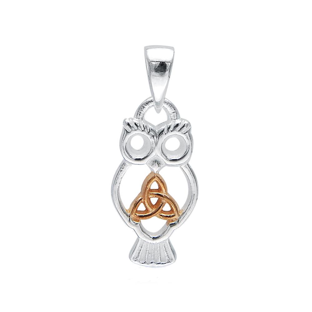 Celtic Trinity Knot Owl Pendant
