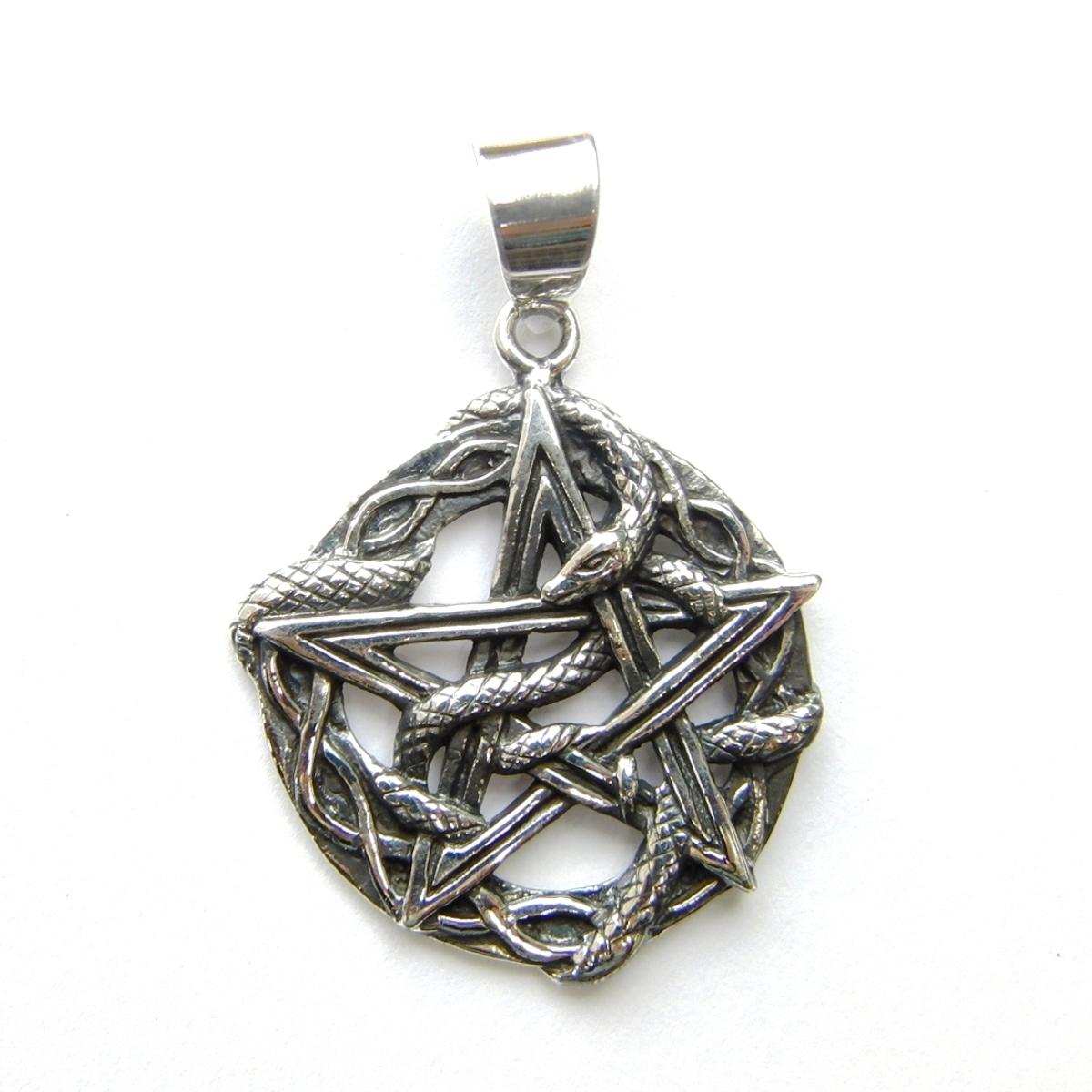 Lovely Snake Pentagram Pendant
