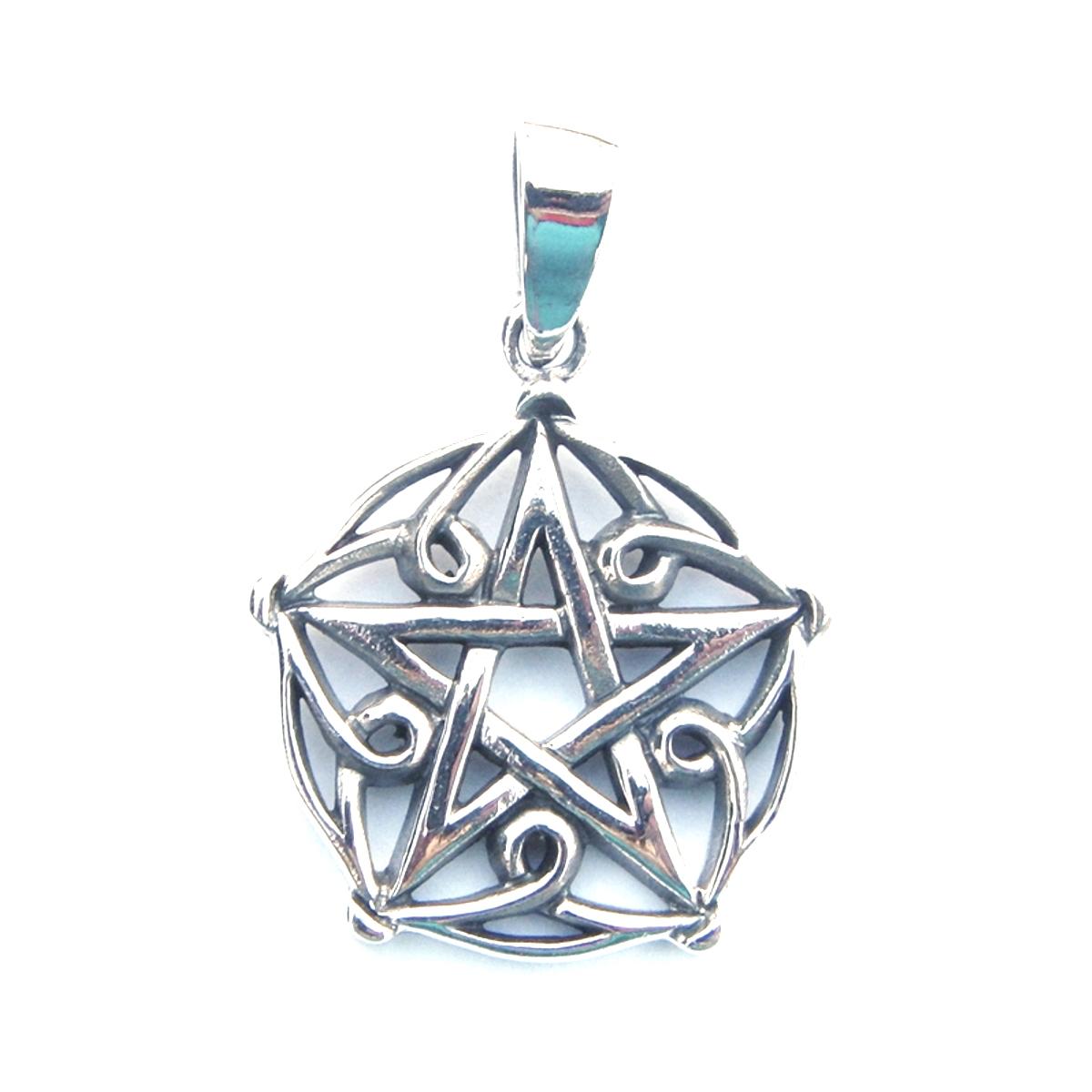 Pretty Patterned Pentagram Pendant.