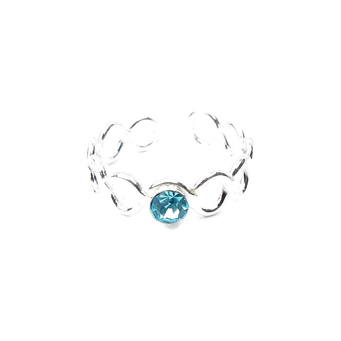Pretty Aqua Crystal Toe Ring