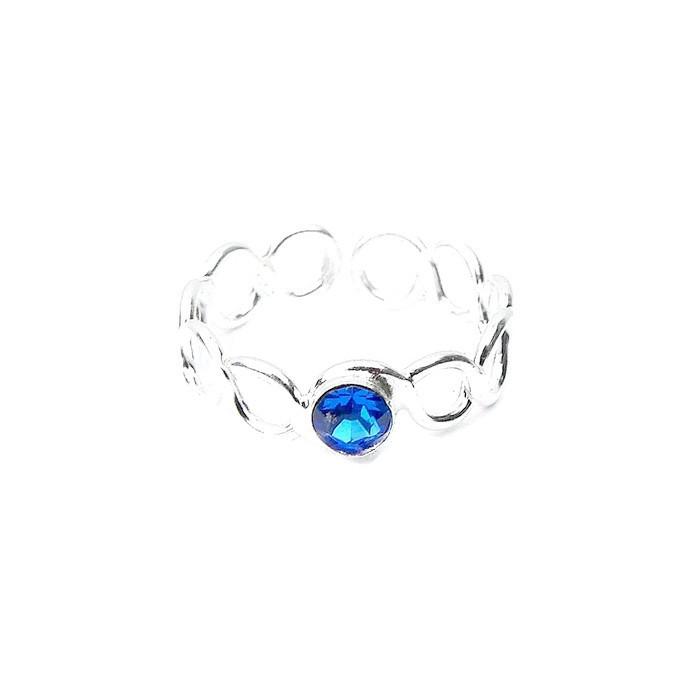 Pretty Sapphire Crystal Toe Ring