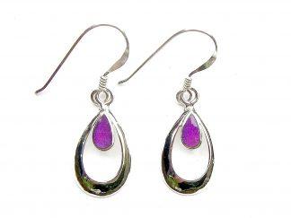 Beautiful Purple Teardrop Earrings