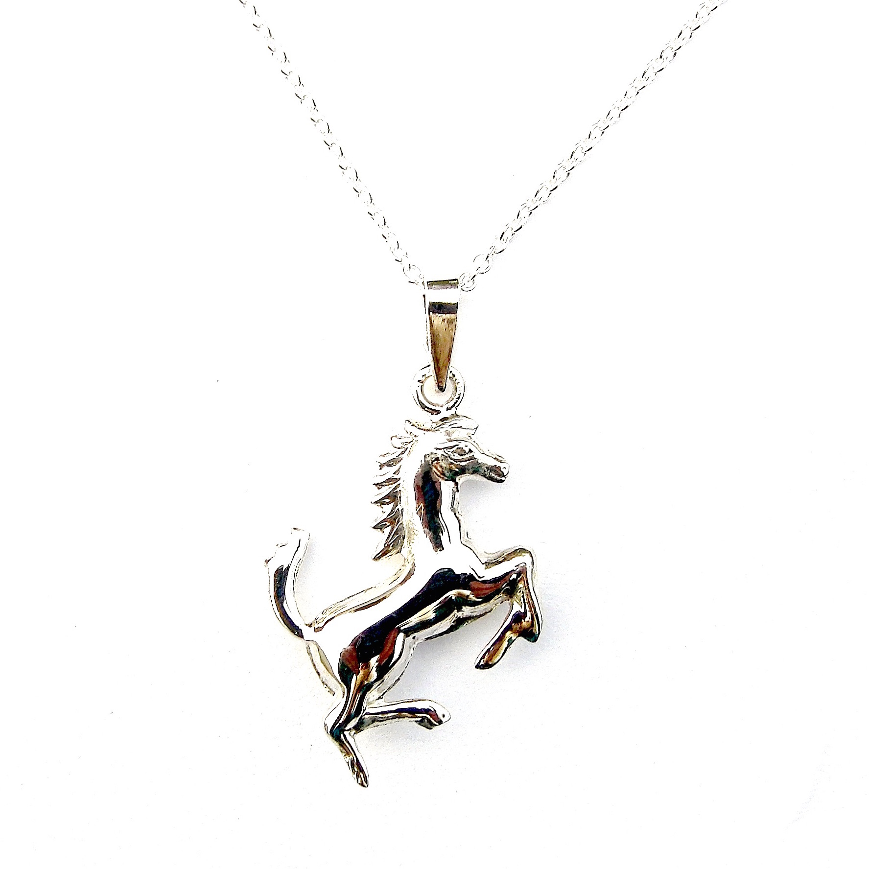 Beautiful Rearing Horse Necklace