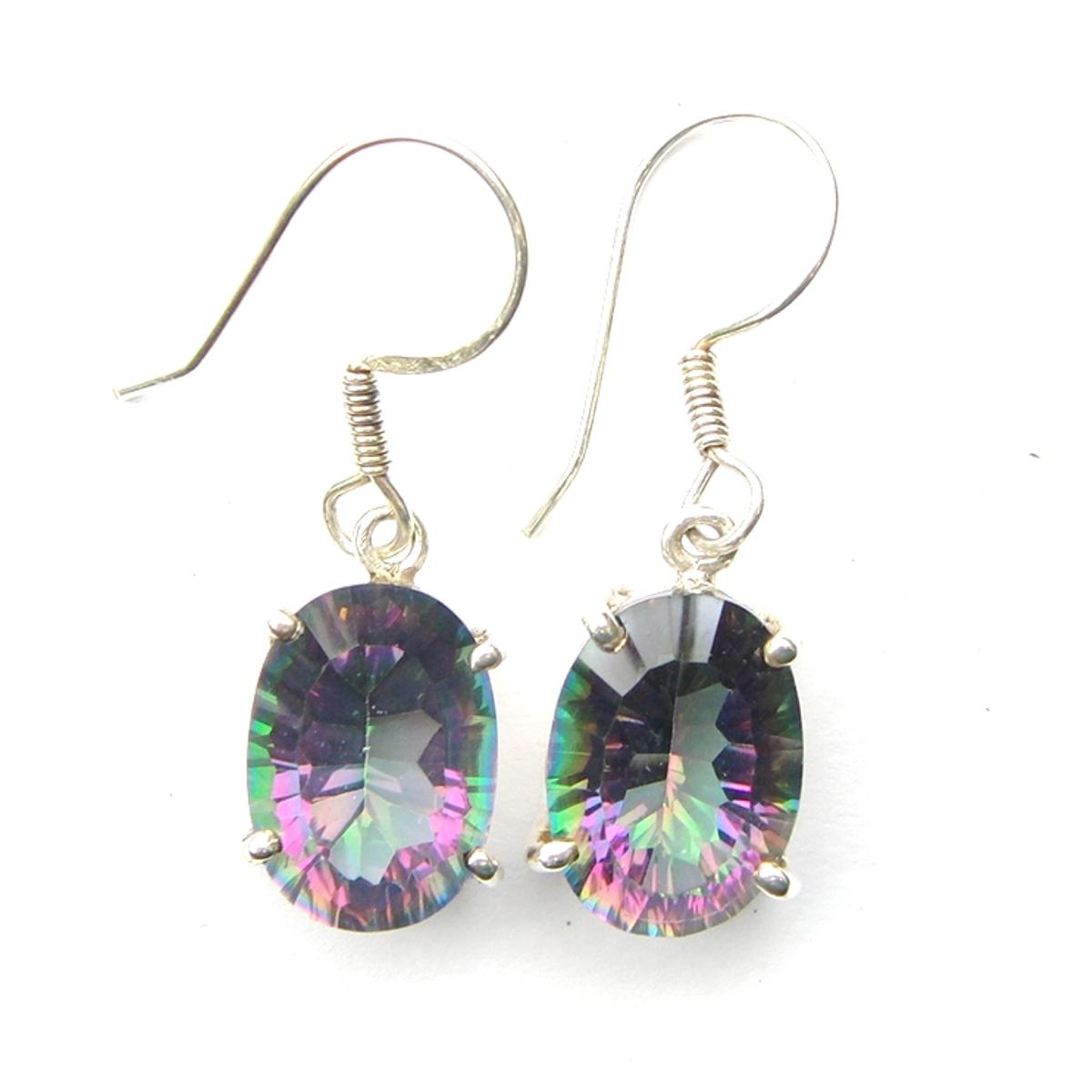Mystic Topaz Small Oval Earrings.