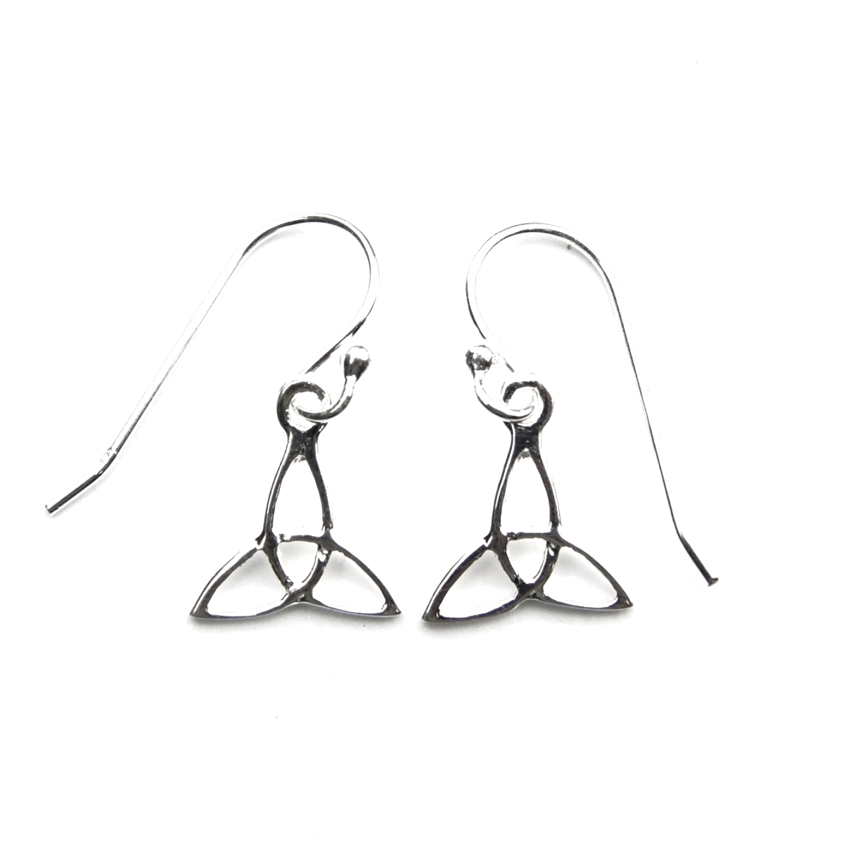 Small Triquetra Earrings.