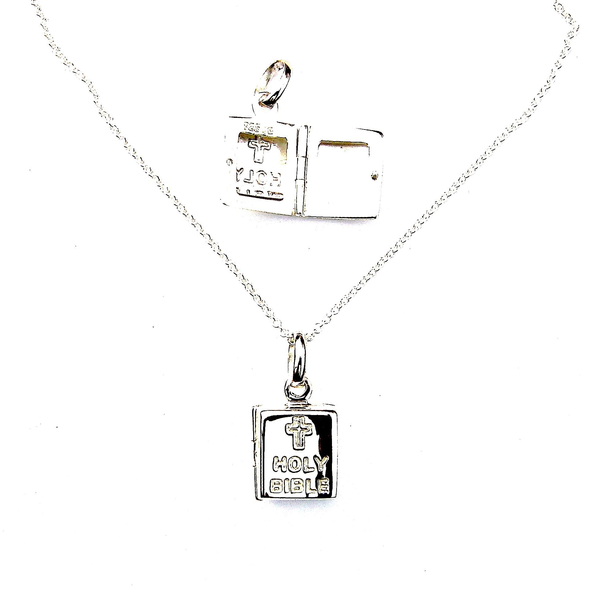 Stunning Holy Bible Opening Locket Necklace