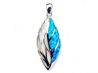 Beautiful Large Blue Opal Decorative Pendant