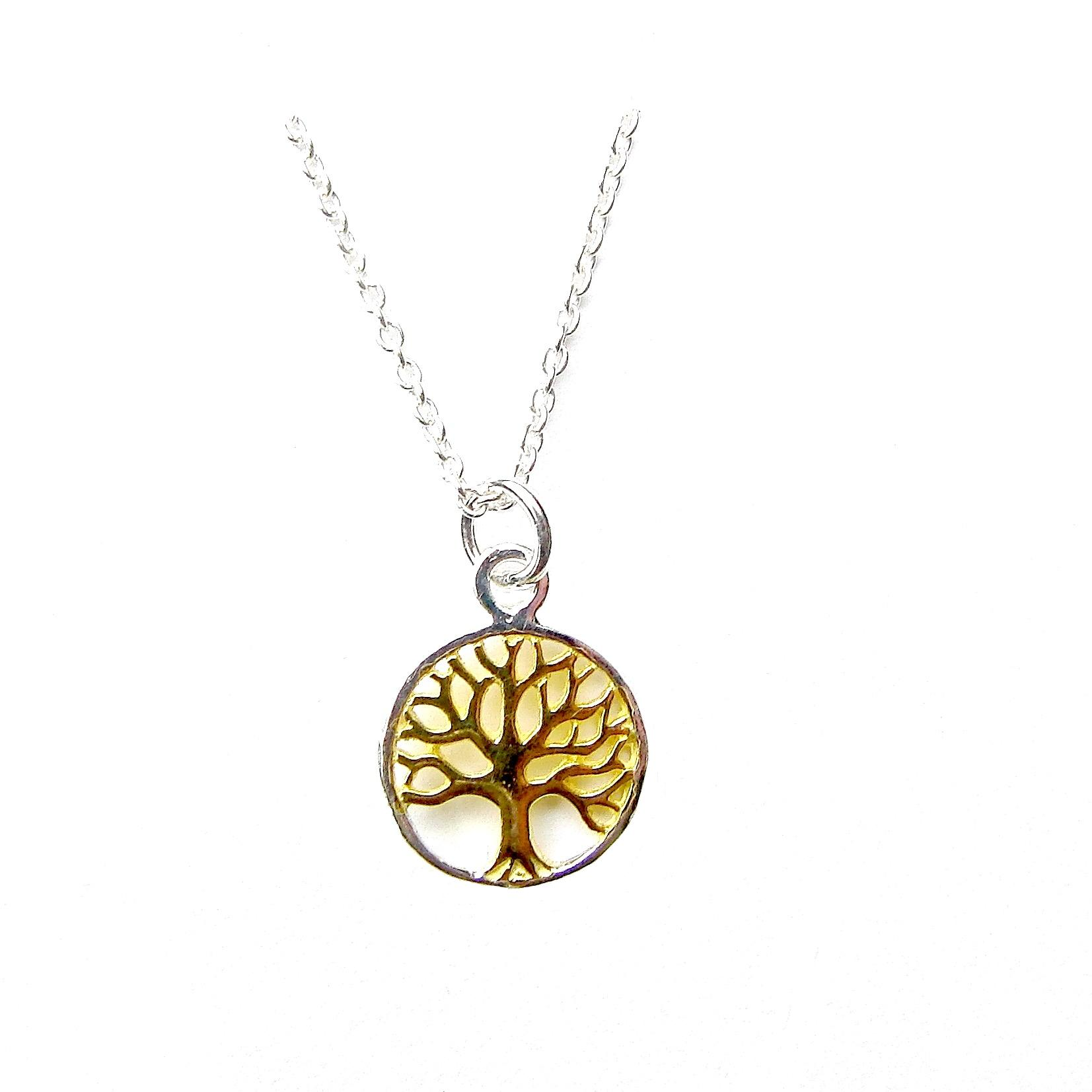 Stunning Two Tone Tree of Life Necklace