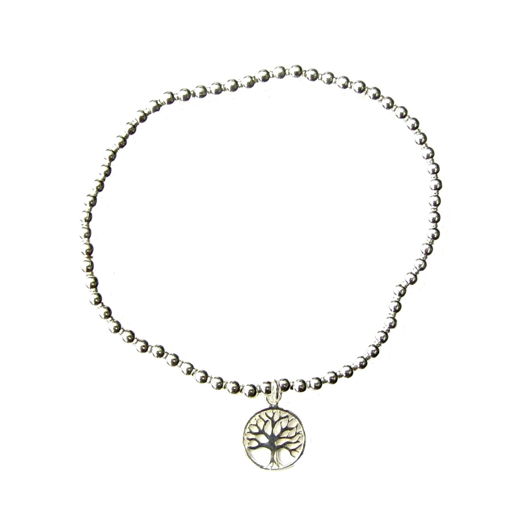 Beautiful Tree of Life Silver Charm Bracelet
