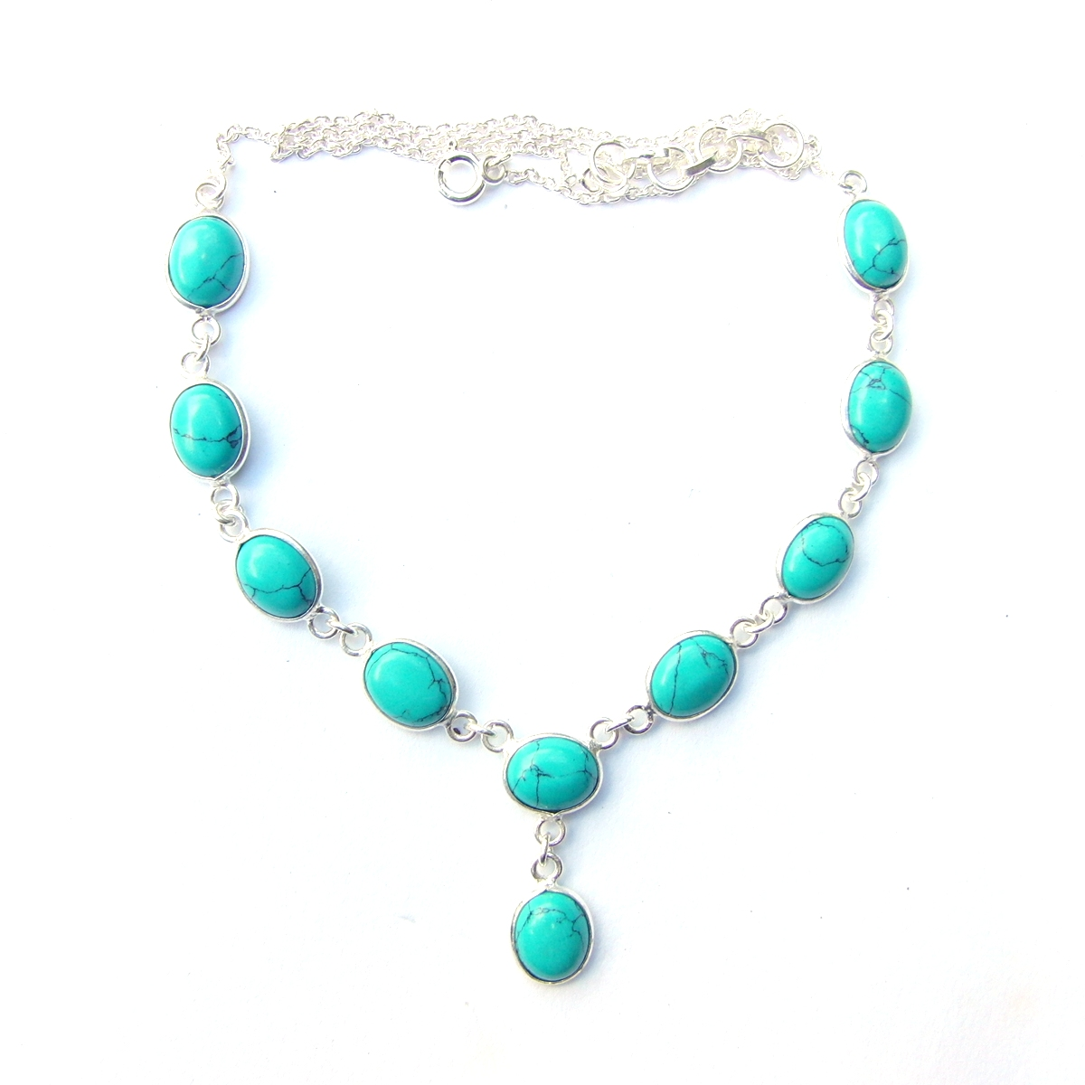 Turquoise Large Oval Necklace