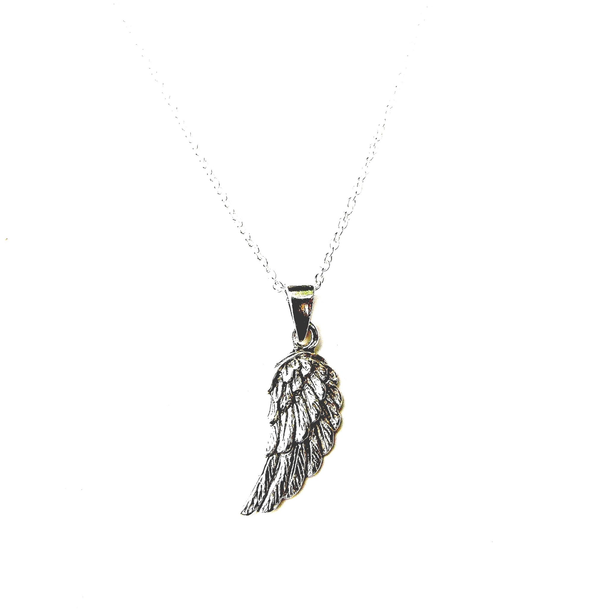 Beautiful Silver Angel Wing Necklace